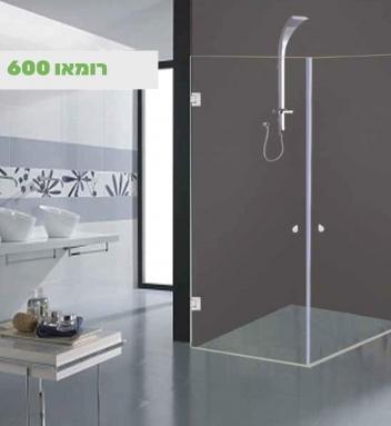 מקלחונים פינתיים לפי מידה