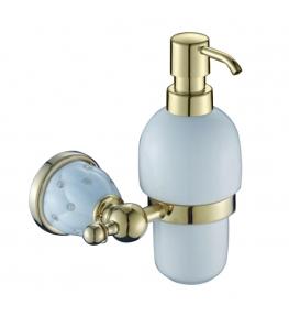 דיספנסר לסבון נוזלי זהב לבן