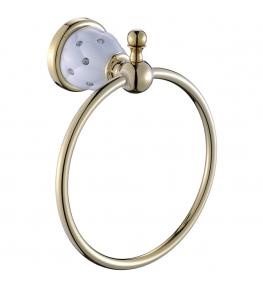 טבעת מגבת זהב לבן diamond