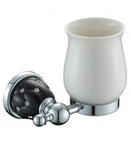 כוס מברשת שיניים ניקל שחור DIAMOND