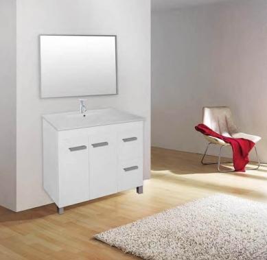 ארון אמבטיה דגם יואב פשתן אפור