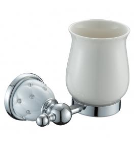 כוס מברשת שיניים ניקל לבן DIAMOND