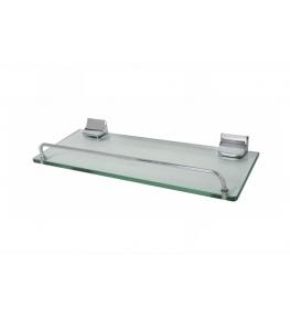 מדף זכוכית ניקל 50 ס